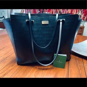 Kate Spade Black Leather Work Tote